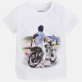 Mayoral 3069-79 Koszulka chłopięca krótki rękaw kolor biały