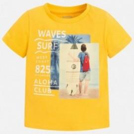 Mayoral 3073-49 Koszulka chłopięca krótki rękaw kolor żółty