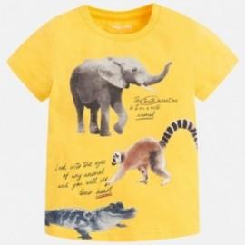 Mayoral 3077-38 Koszulka chłopięca krótki rękaw kolor żółty