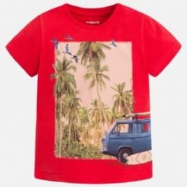 Mayoral 3083-17 Koszulka chłopięca kolor Wiśniowy