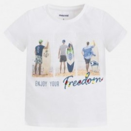 Mayoral 3085-94 Koszulka chłopięca surferzy kolor Biały