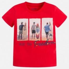 Mayoral 3085-95 Koszulka chłopięca surferzy kolor wiśniowy