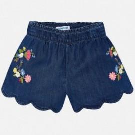 Mayoral 3222-5 Szorty dziewczęce z haftem kolor Jeans
