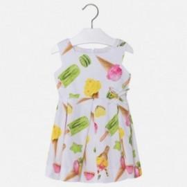 Mayoral 3930-49 Sukienka dziewczęca z satyny lody kolor zielony
