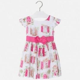 Mayoral 3940-18 Sukienka dziewczęca z satyny kolor Fuksja