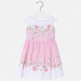 Mayoral 3974-34 Sukienka dziewczęca z lamówką kwiat kolor Różowy