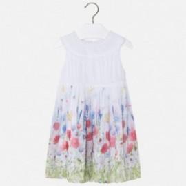 Mayoral 3986-72 Sukienka dziewczęca kolor biały