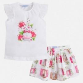 Mayoral 3993-46 Komplet dziewczęcy spódnica kolor Fuksja