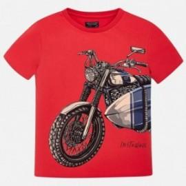 Mayoral 6073-65 Koszulka chłopięca moto kolor czerwony