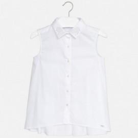 Mayoral 6106-60 Bluzka dziewczęca kołnierzyk dżety kolor Biały