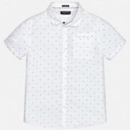 Mayoral 6142-14 Koszula chłopięca z nadrukiem kolor biały