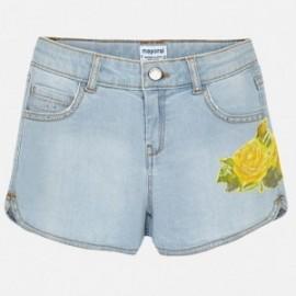 Mayoral 6202-85 Szorty dziewczęce kolor jasny jeans