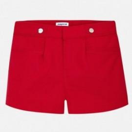 Mayoral 6204-17 Szorty dziewczęce satynowe kolor Czerwony