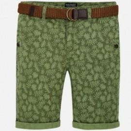 Mayoral 6242-66 Bermudy chłopięce z paskiem kolor zielony