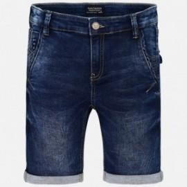Mayoral 6254-92 Bermudy chłopięce kolor granatowy jeans