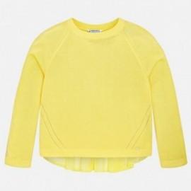 Mayoral 6306-31 Sweter dziewczęcy łączenia kolor żółty