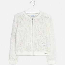 Mayoral 6424-23 Bluza dziewczęca koronka kolor Biały
