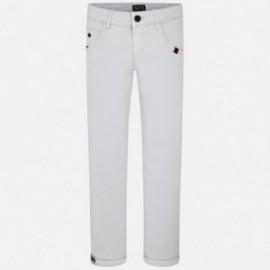 Mayoral 6524-20 Spodnie chłopięce długie stretchem kolor jasny szary
