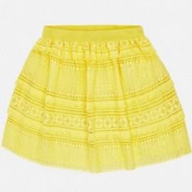 Mayoral 6910-79 Spódnica dziewczęca gipiura kolor żółty
