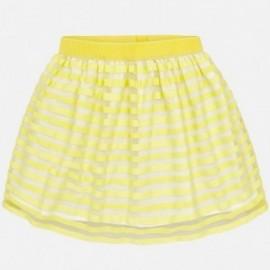Mayoral 6912-54 Spódnica dziewczęca paski kolor żółty