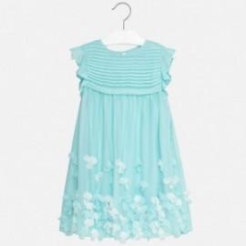 Mayoral 6934-57 Sukienka dziewczęca płatki kolor błękitny