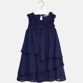 Mayoral 6956-51 Sukienka dziewczęca szyfon kolor Granatowy
