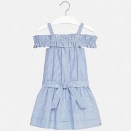Mayoral 6960-19 Sukienka dziewczęca paski kolor niebieski