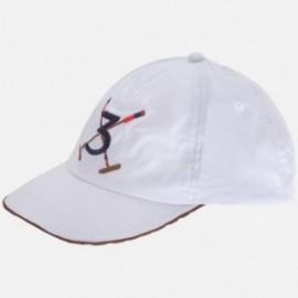 """Mayoral 10376-69 Czapka chłopięca haft """"3"""" kolor Biały"""