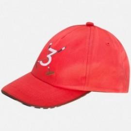 """Mayoral 10376-70 Czapka chłopięca haft """"3"""" kolor czerwony"""