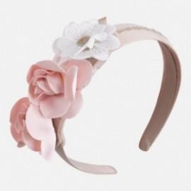 Mayoral 10407-52 Opaska dziewczęca kwiatki kolor pudrowy róż