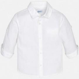 Mayoral 117-90 Mayoral 117-90 Koszula długi rękaw len basic kolor Biały