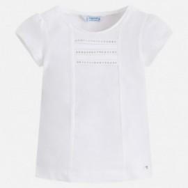 Mayoral 174-61 Koszulka krótki rękaw basic kolor Biały