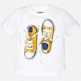 Mayoral 1048-35 Koszulka krótki rękaw buciki kolor Biały