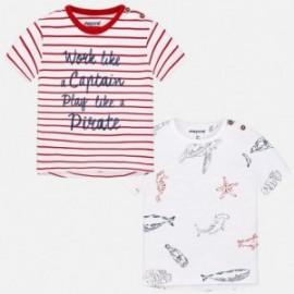 Mayoral 1052-93 Komplet 2 koszulki fantazja kolor Wiśniowy