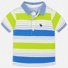 Mayoral 1132-74 Koszulka polo paski kolor Brokuł