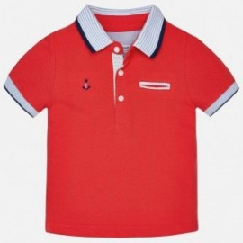 Mayoral 1138-90 Koszulka polo krótki rękaw kolor czerwony