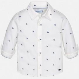 Mayoral 1168-28 Koszula długi rękaw wzory kolor Biały