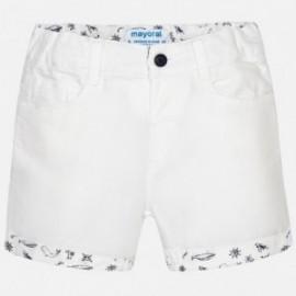Mayoral 1292-71 Bermudy z dodatkiem lenu kolor Biały