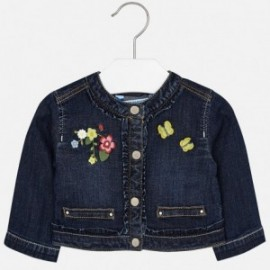 Mayoral 1424-50 Kurtka dziewczęca jeans z haftem kolor granat