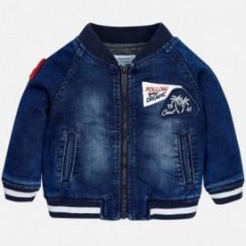 Mayoral 1454-5 kurtka dla chłopca jeans typu bomber kolor granat