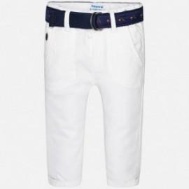 Mayoral 1540-11 Spodnie chłopięce klasyczne kolor Biały