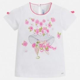 Mayoral 3010-57 Koszulka dziewczęca króyki rękaw kolor Fuksja
