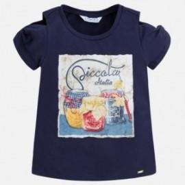 Mayoral 3014-51 Koszulka dziewczęca kolor Granatowy
