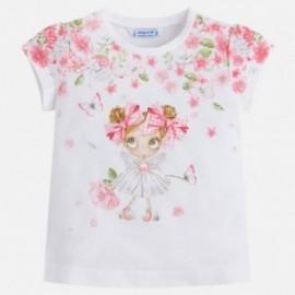 Mayoral 3016-56 Koszulka dziewczęca krótki rękaw kolor Różowy