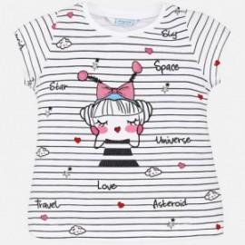 Mayoral 3024-82 Koszulka dziewczęca krótki rękaw kolor Czarny