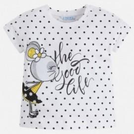 Mayoral 3034-31 Koszulka dziewczęca kolor Czarny