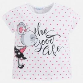 Mayoral 3034-33 Koszulka dziewczęca krótki rękaw kolor różowy