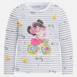 Mayoral 3042-78 Koszulka dziewczęca długi rękaw kolor różowy