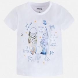 Mayoral 3055-85 Koszulka chłopięca krótki rękaw kolor Biały