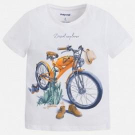 Mayoral 3059-20 Koszulka chłopięca motocykle kolor Biały